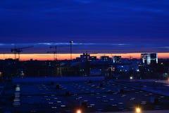 Wschód słońca w Bucharest Obrazy Stock