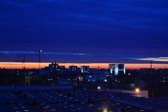 Wschód słońca w Bucharest Fotografia Stock
