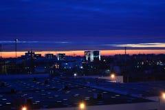 Wschód słońca w Bucharest Obrazy Royalty Free
