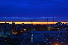Wschód słońca w Bucharest Zdjęcie Stock