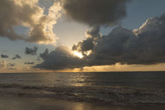 Wschód słońca w Cabo Branco plaży - Joao Pessoa PB, Brazylia Obraz Stock