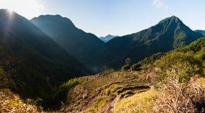 Wschód słońca w Chińskiej górskiej wiosce Szerokiej Obraz Royalty Free