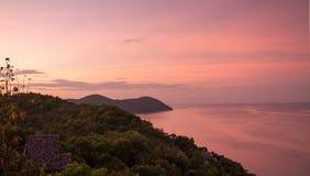 Wschód słońca w czerwieni Zdjęcie Royalty Free