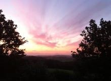 Wschód słońca w Dartmoor fotografia stock