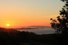 Wschód słońca w Dartmoor zdjęcie stock