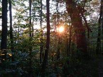 Wschód słońca w Dymiących górach Zdjęcie Royalty Free