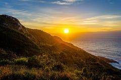 Wschód słońca w floriapolis, boa vista ślad obraz royalty free