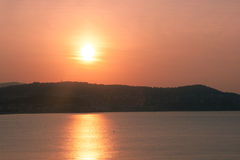 Wschód słońca w Francja Fotografia Royalty Free