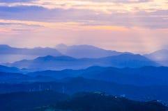 Wschód słońca w górach Zdjęcia Stock