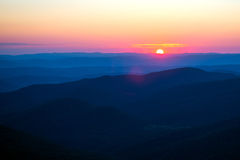 Wschód słońca w górach Obrazy Royalty Free