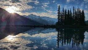 Wschód słońca w Garibaldi jeziorze Zdjęcia Stock