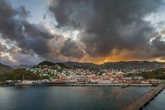 Wschód słońca w Grenada Zdjęcia Stock