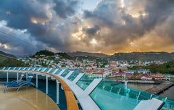 Wschód słońca w Grenada, od statku Fotografia Royalty Free