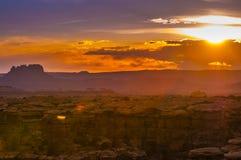 Wschód słońca w igłach Gromadzkich Obrazy Royalty Free