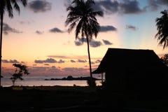 Wschód słońca w Indonezja Fotografia Stock