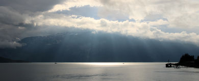Wschód słońca w Inside przejściu, Alaska, Zlany stan zdjęcia royalty free