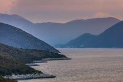 Wschód słońca w Ionian wyspach Obraz Stock
