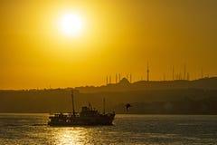 Wschód słońca w Istanbuł fotografia stock