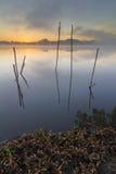 Wschód słońca w jeziorze Obraz Royalty Free