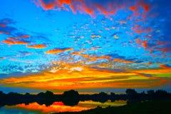 Wschód słońca W Kluczach Obrazy Stock