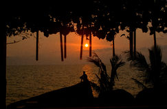 Wschód słońca w Koh Samui obrazy stock