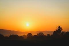 Wschód słońca w kraju Fotografia Royalty Free