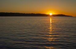 Wschód słońca w Majorca wyspie, Hiszpania Fotografia Royalty Free