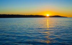 Wschód słońca w Majorca wyspie, Hiszpania Zdjęcia Stock