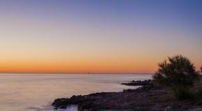 Wschód słońca w Majorca wyspie, Hiszpania Obrazy Stock