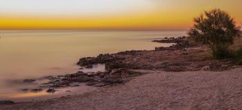 Wschód słońca w Majorca wyspie, Hiszpania Obrazy Royalty Free