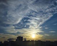Wschód słońca w mieście Obraz Royalty Free