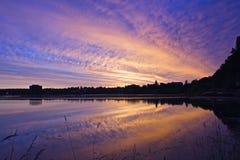 Wschód słońca w mieście Zdjęcia Stock