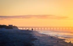 Wschód słońca w mirt plaży Obrazy Royalty Free