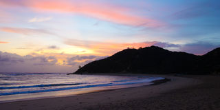 Wschód słońca w Mozambik linii brzegowej fotografia stock