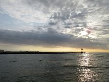Wschód słońca w oceanu mieście Maryland Obraz Royalty Free