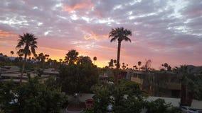 Wschód słońca w palmowych wiosnach Obraz Royalty Free