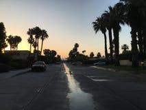 Wschód słońca w palmowych wiosnach Obraz Stock