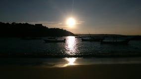 Wschód słońca w plaży Obraz Royalty Free