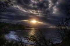 Wschód słońca w Południowej części Mauritius Zdjęcie Stock