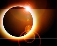 Wschód słońca w przestrzeni Zdjęcia Stock