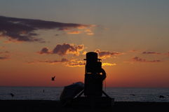 Wschód słońca w Racine fotografia stock