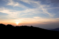 Wschód słońca w ranek Zdjęcie Royalty Free