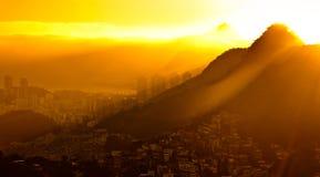 Wschód słońca w Rio De Janeiro obrazy stock