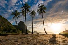 Wschód słońca w Rio De Janeiro z Sugarloaf górą zdjęcie royalty free