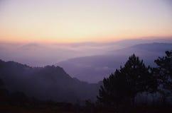 Wschód słońca w sagada Fotografia Royalty Free
