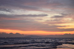 Wschód słońca w sen Zdjęcie Stock