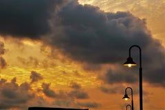 Wschód słońca w Singapur Obraz Royalty Free