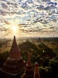 Wschód słońca w Starym Bagan Zdjęcia Stock