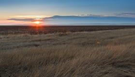 Wschód słońca w stepach Obrazy Stock