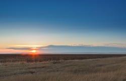 Wschód słońca w stepach Fotografia Stock